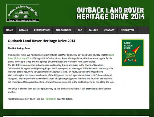 Outback Land Rover Heritage Drive