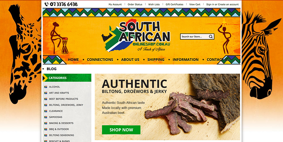 The South African Food Shop is your online provider of the very best South African food products and groceries throughout the continental USA Bledie Lekker Biltong is number One! There is simply no comparison in the USA to the quality and taste of Bledie Lekker brand Biltong, Droewors and Boerewors.